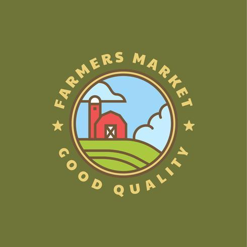 Bauernmarkt Logo Abzeichen vektor