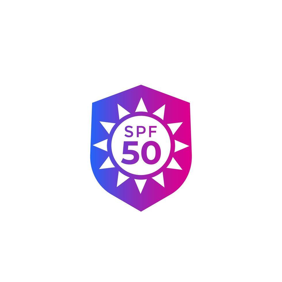 uv, solskydd spf 50 ikon med lutning vektor