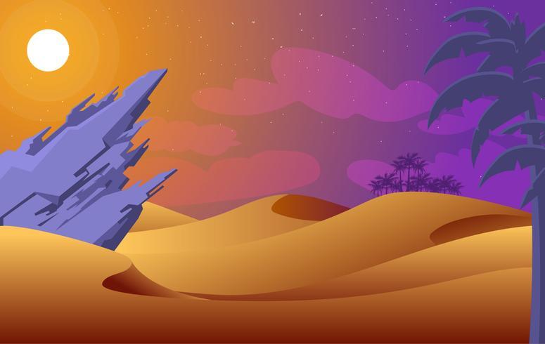 Vektor abstrakte Wüste Illustration