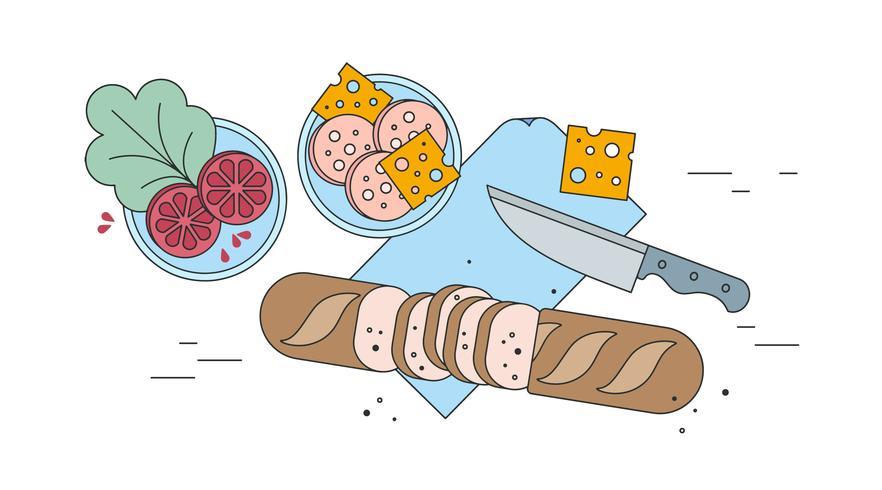 Göra en Sandwich Vector