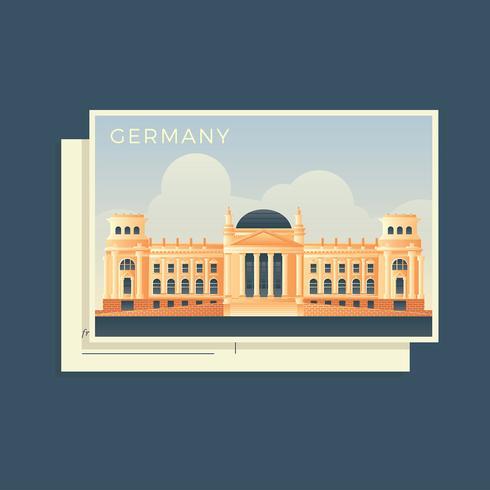 Postkarten der Welt Deutschland Bundestag Vector