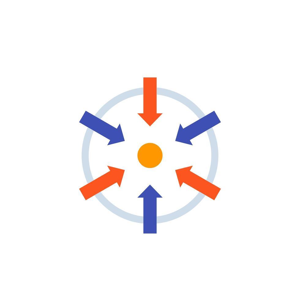 Fokus-Symbol im flachen Stil vektor