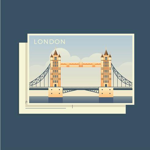 Postkarten der Welt England Vector