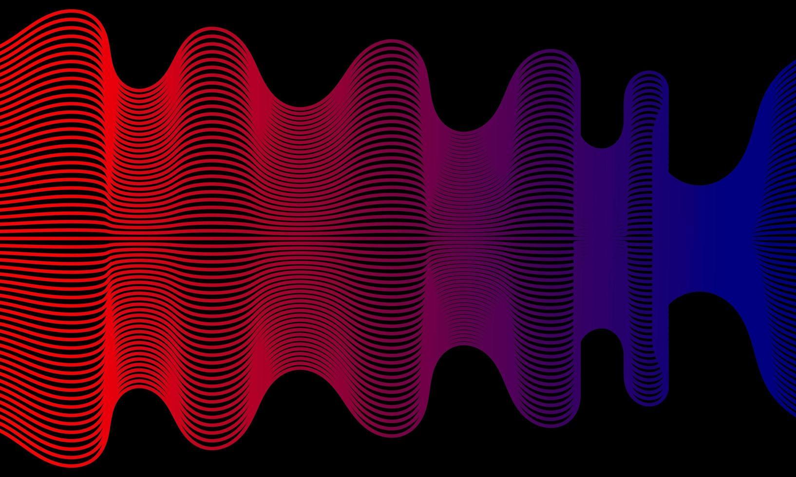 modern abstrakt bakgrund med vågiga linjer i rött och blått vektor