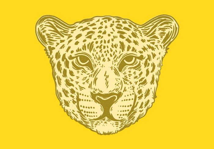 porträtt av en spotted jaguar vektor