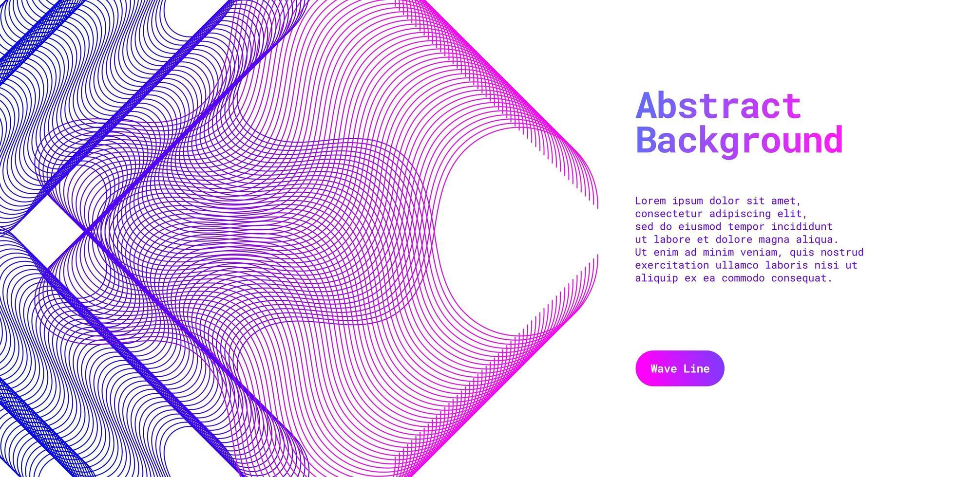 abstrakter Hintergrund mit dynamischem Blau und Purpur vektor