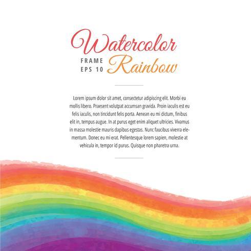 Akvarell Rainbow Frame Wave Vector