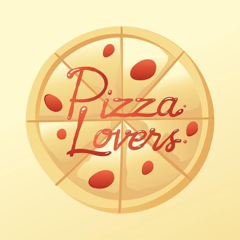 Pizza Lovers Typografi Såsvektor vektor
