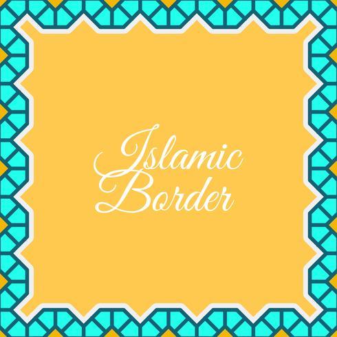 Flacher islamischer Grenzvektorhintergrund vektor