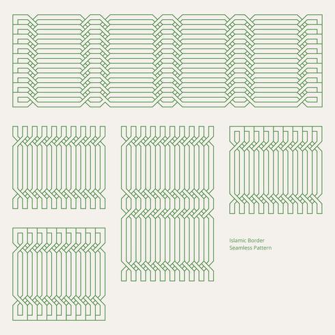 islamiskt gränssändningsbart sömlöst mönster vektor