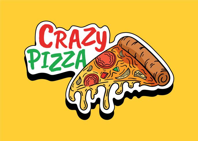 Verrückte Pizza vektor