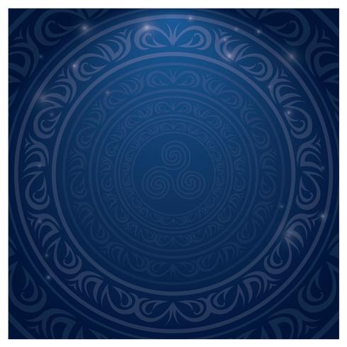 Blå islamisk gräns vektor
