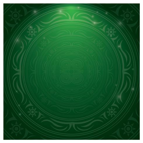 Grön islamisk gräns vektor