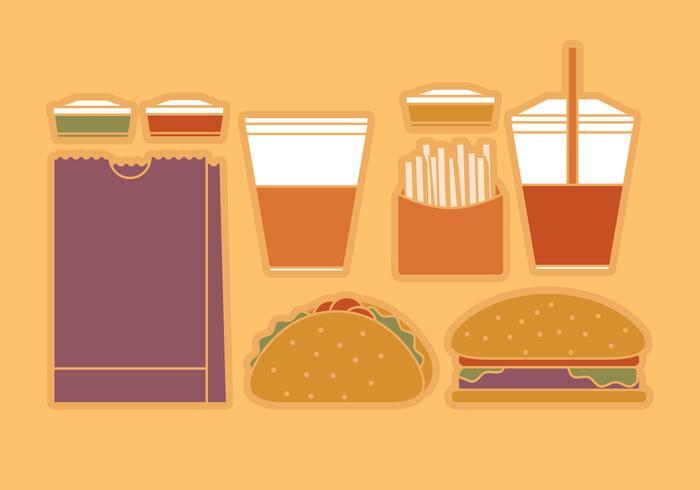 Vektor-Fast-Food vektor