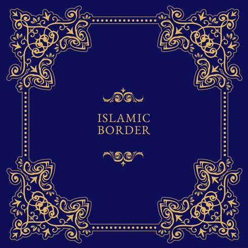 Islamischer Grenzvektor vektor