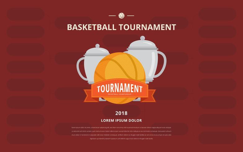 Basket turneringsfäste affischmall vektor