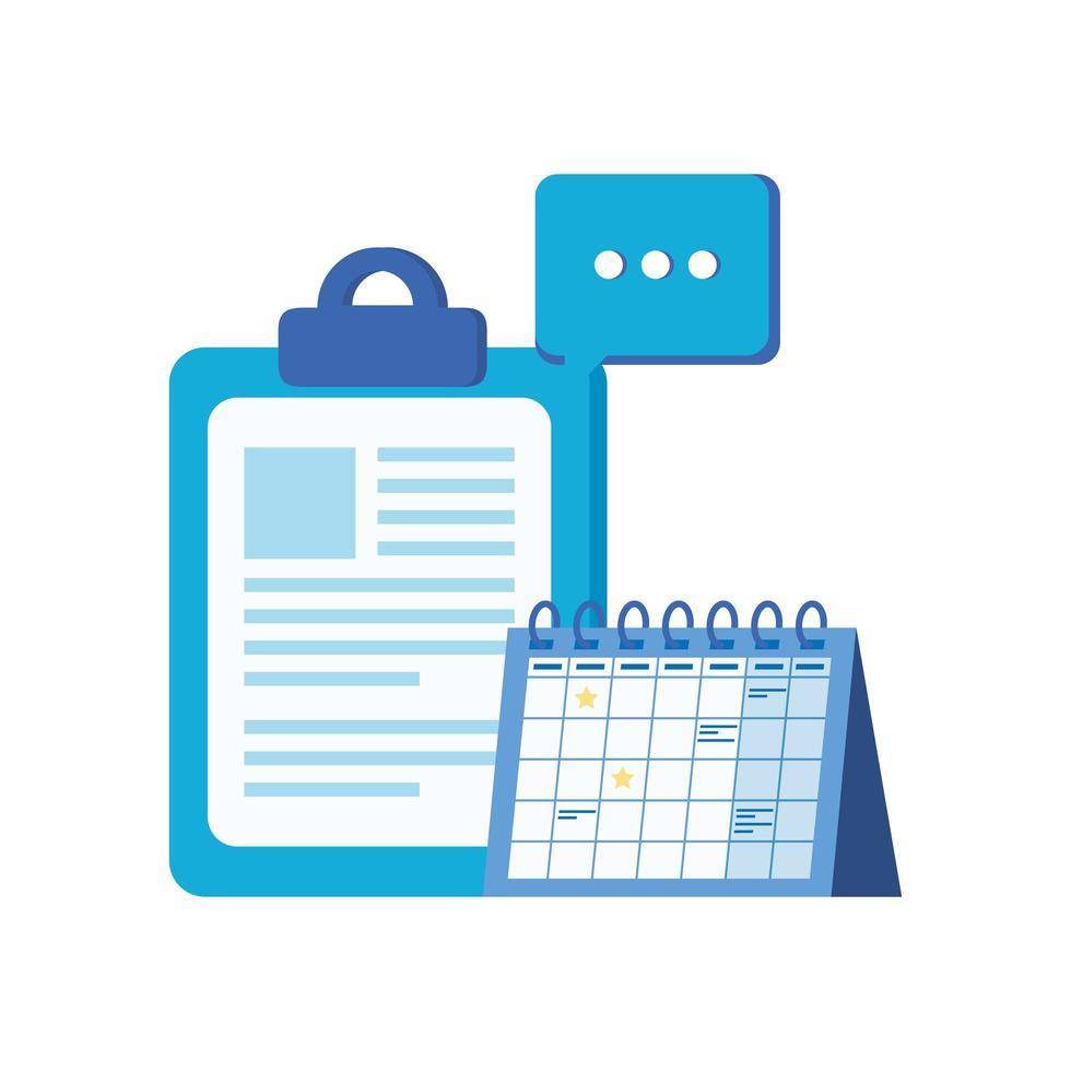 checklista urklipp med kalenderpåminnelse vektor