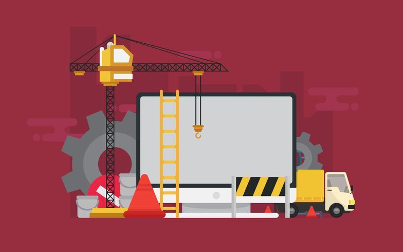 Webseite im Bau Illustration vektor