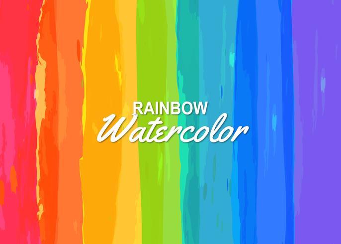 Färgrik akvarell regnbåge bakgrund vektor