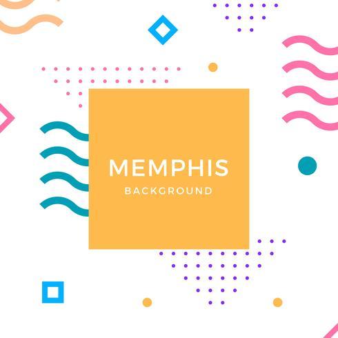 Flat Memphis Vector Background