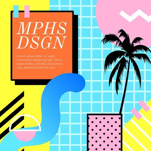 memphis designkomposition vektor