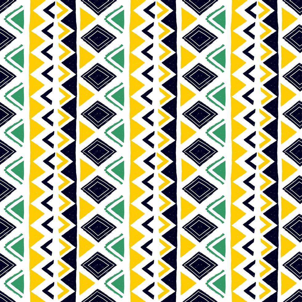 sömlöst geometriskt mönster. etniska och stammotiv. handritad textur ornament. vektorillustration redo för textiltryck. vektor