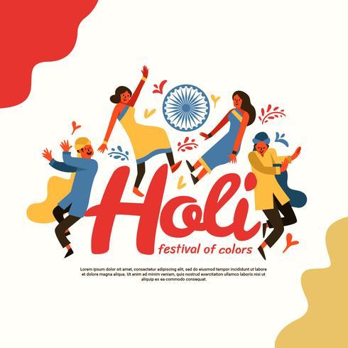 Holi Festival Of Color Vektor Illustration