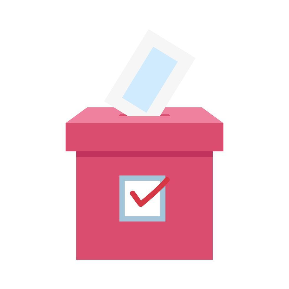 Wahlurne Karton isoliert Symbol vektor