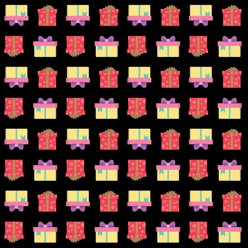 presentförpackning sömlösa mönster vektor