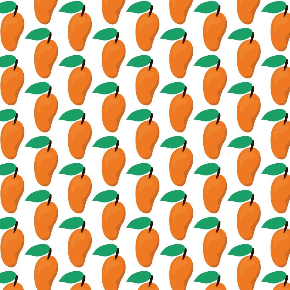 mönster av mango vektor