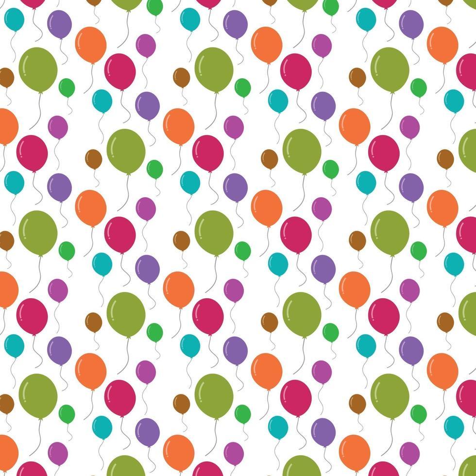 färgglada ballonger sömlösa mönster vektor