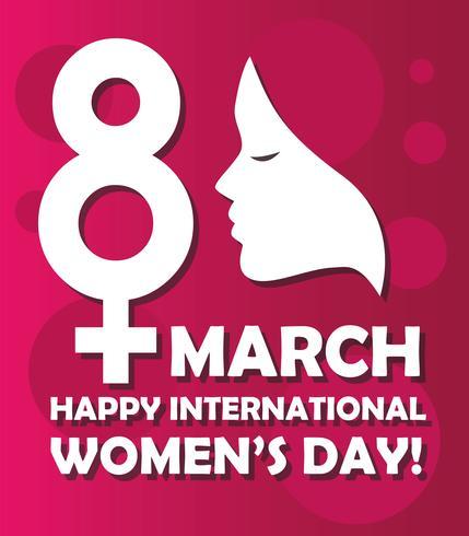 Glad internationella kvinnodagen vektor