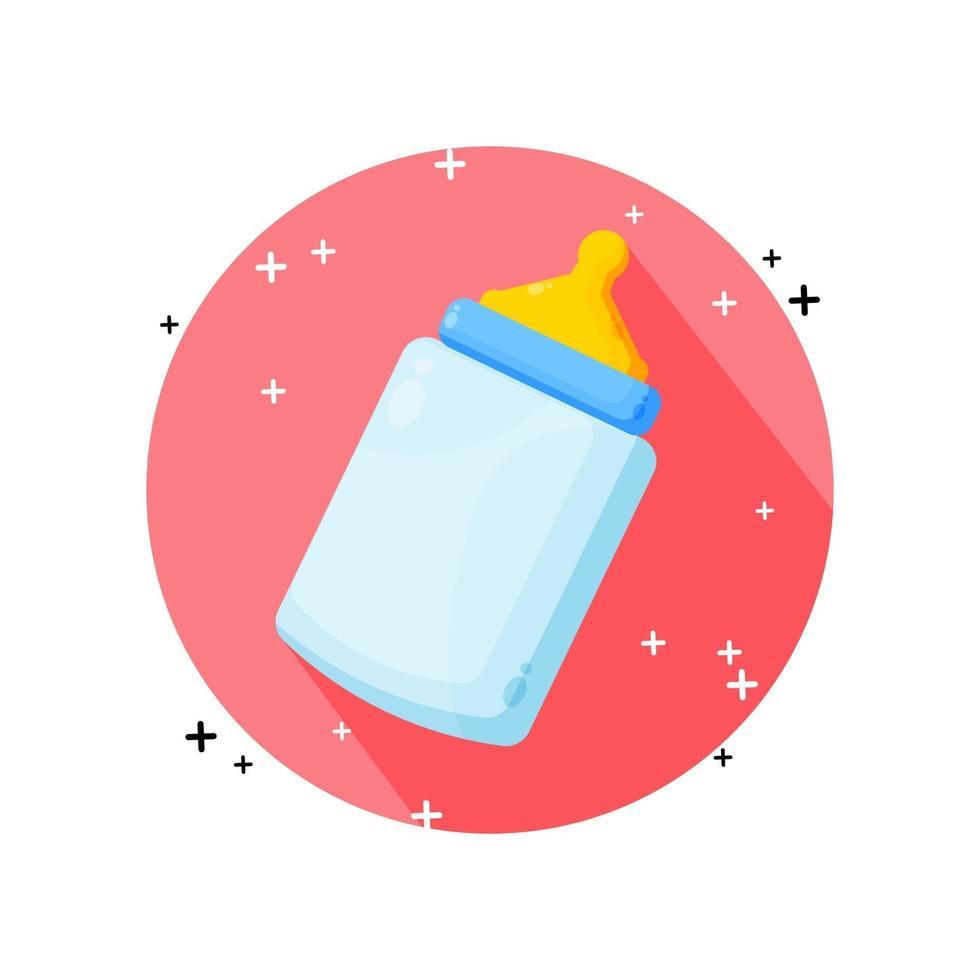 Babyflaschenikonen-Vektorentwurf vektor