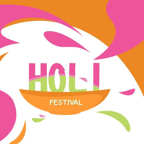 lycklig holi festival vektor