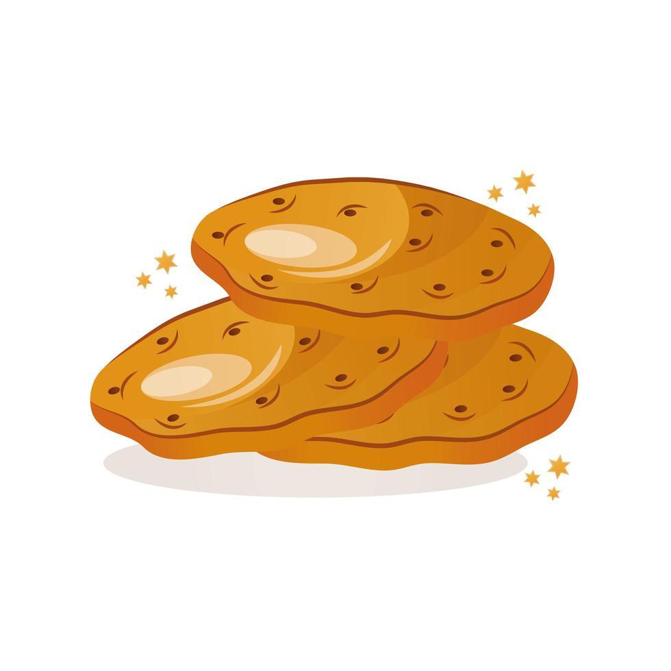 jüdische Kulturikone der süßen Kekse vektor