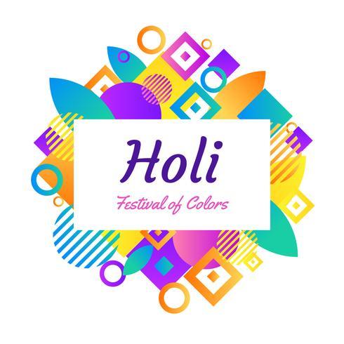 Glücklicher Holi-vektorhintergrund vektor