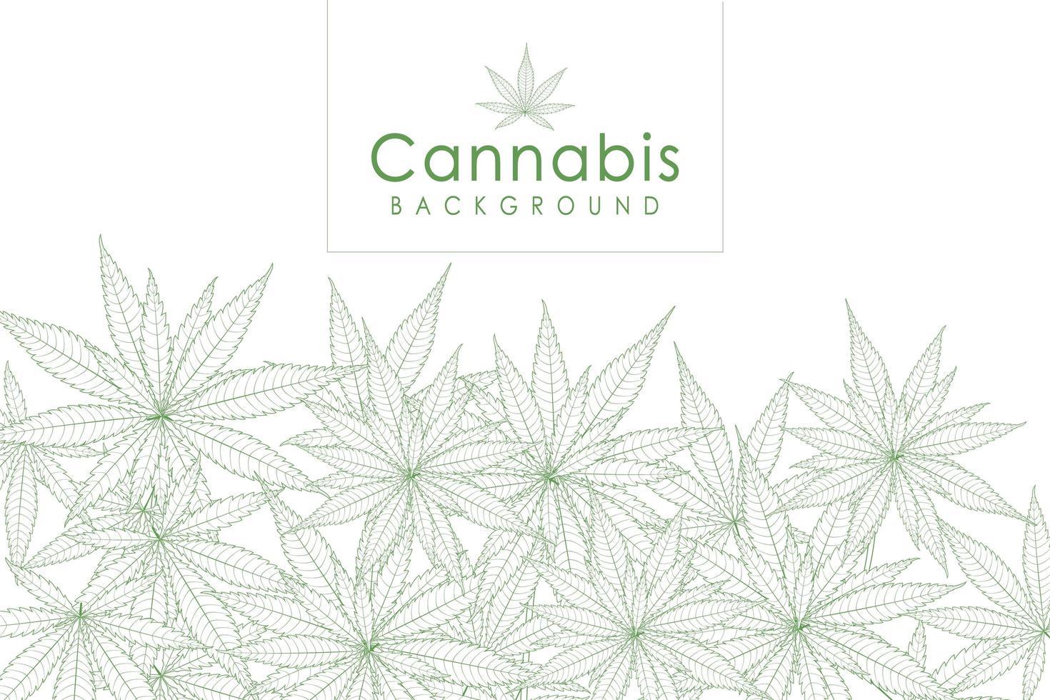 grön cannabis leaf drog marijuana ört bakgrund vektor