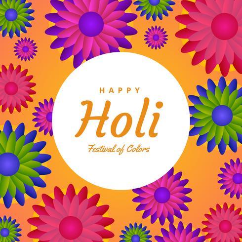 Glad Holi Vector Bakgrund