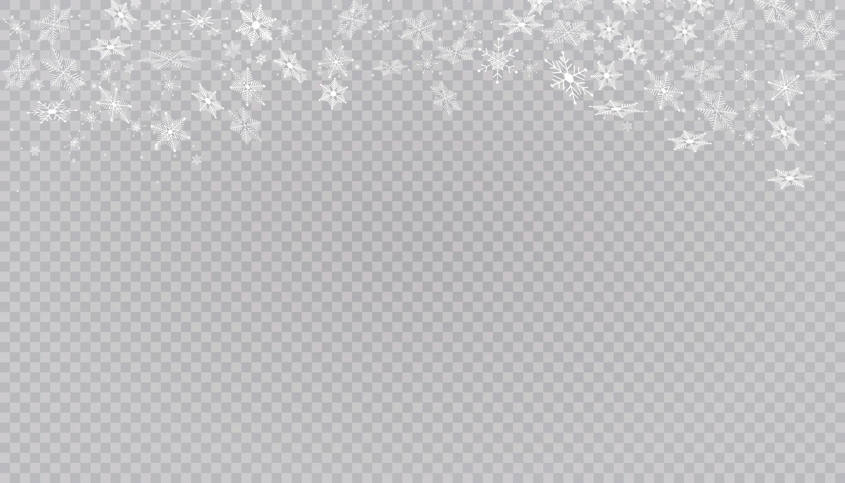 vita snöflingor på bakgrund. vektor