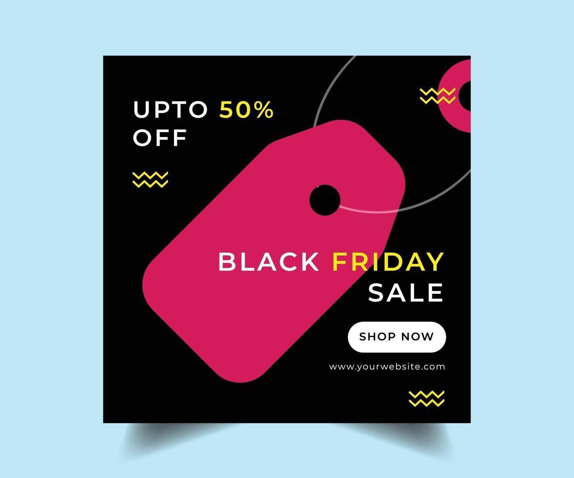 svart fredag sociala medier försäljning post design vektor
