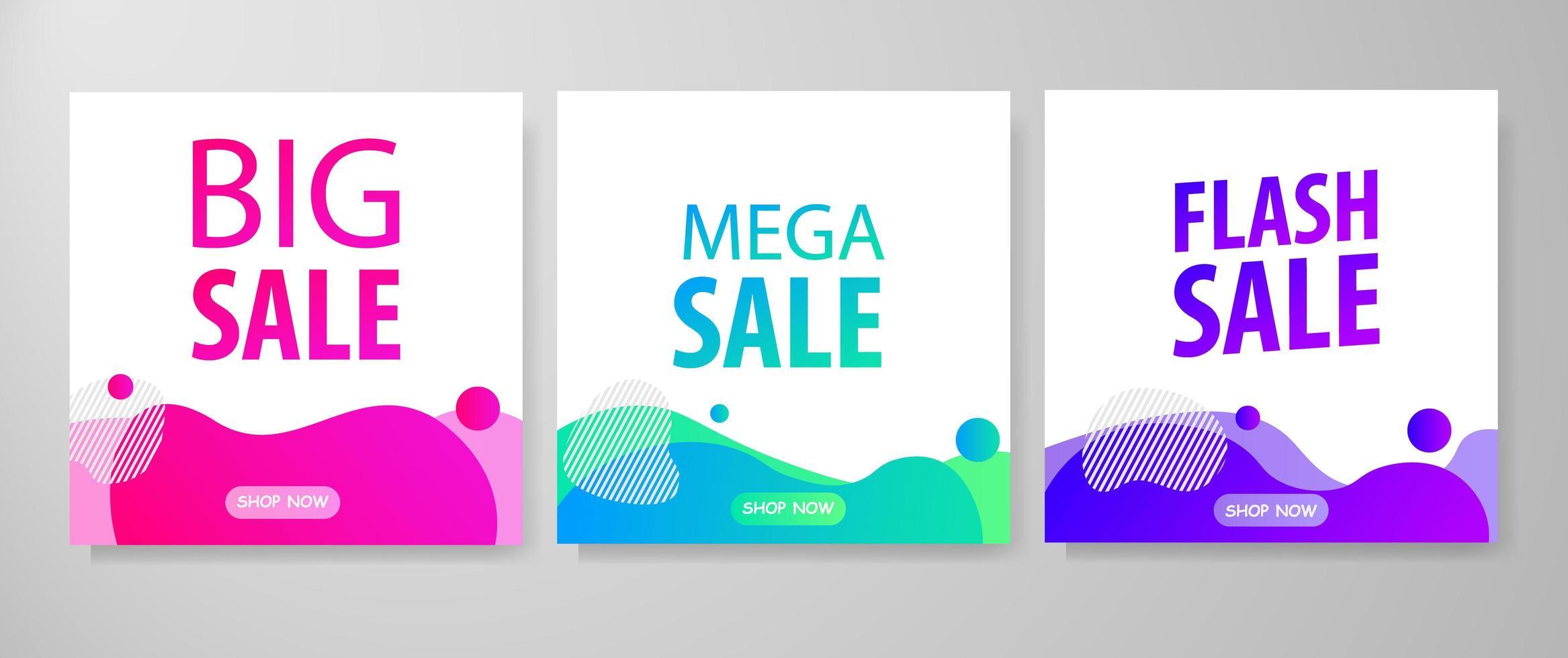 Verkaufsvorlage Design vektor