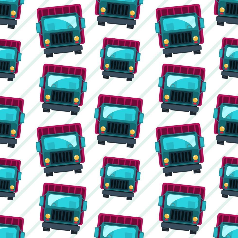 lastbil fordon sömlösa mönster illustration vektor