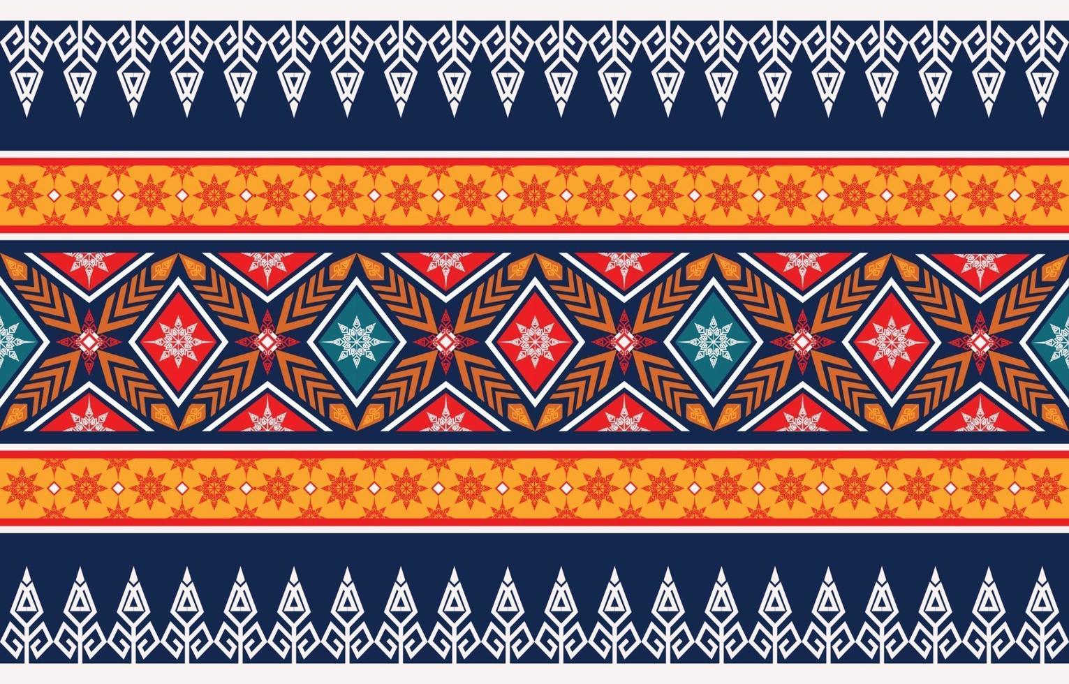 abstrakt etnisk geometrisk mönster design för bakgrund vektor