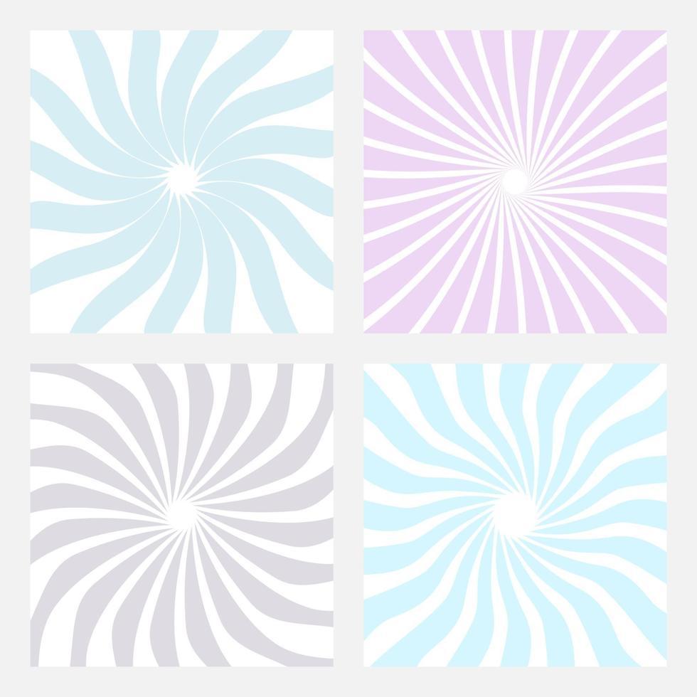samling av abstrakt sunburst design för bakgrund. vektor