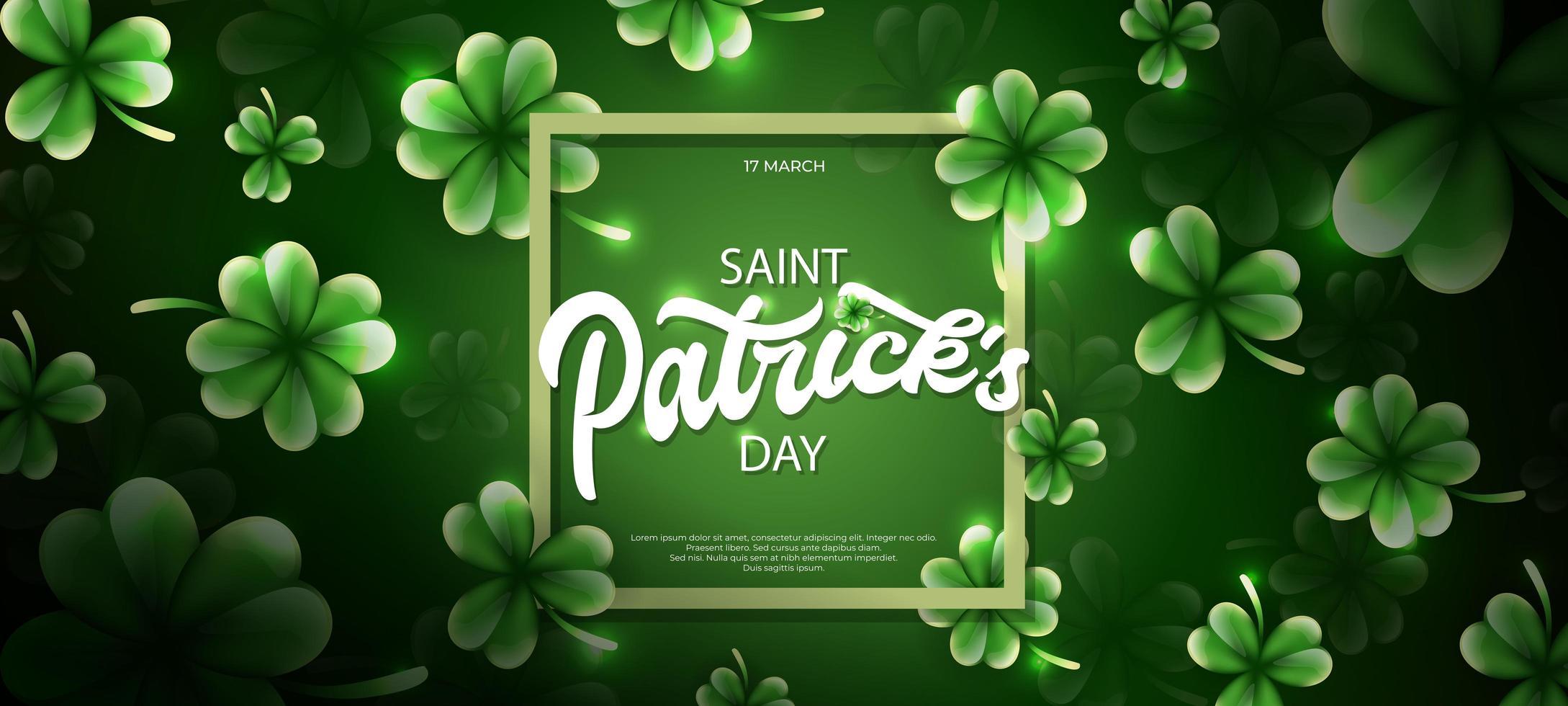 saint patrick's day illustration med klöverblad prydnad vektor