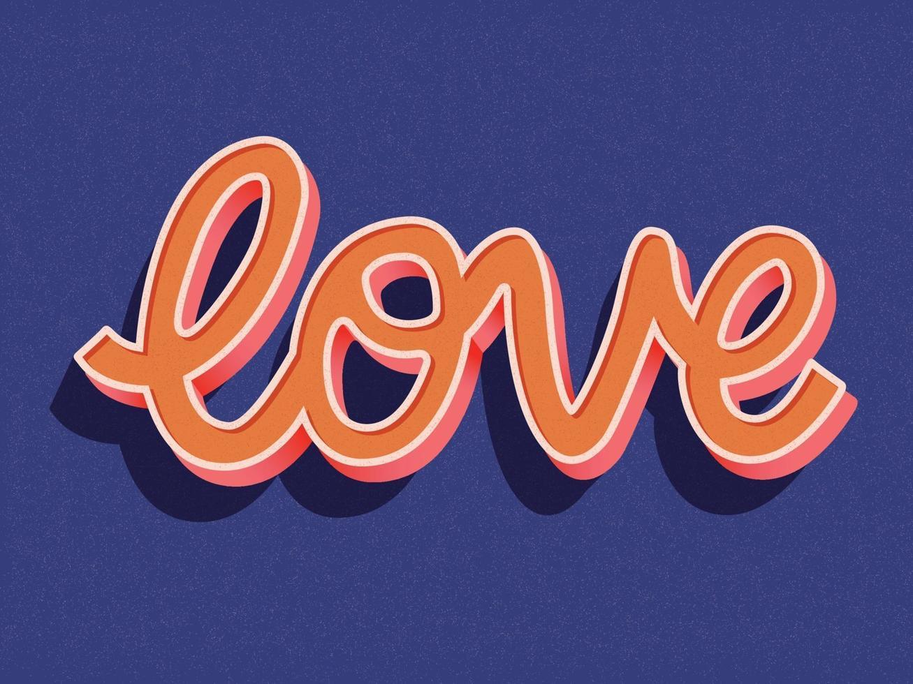 gratulationskort med glad Alla hjärtans dag handbokstäver design. färgrik handritad illustration med typografi. vektor