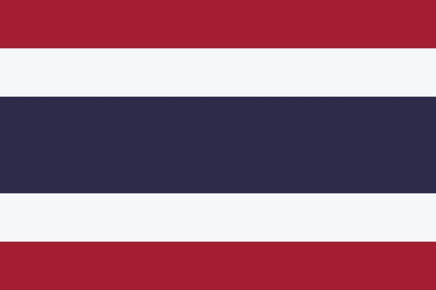 Thailand Flag Vektor isolieren Banner Druck Illustration