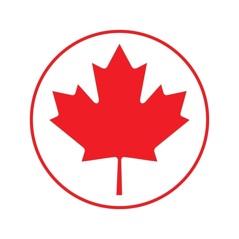 Kanada-Flaggenikonenvektor isolieren Druckillustration vektor