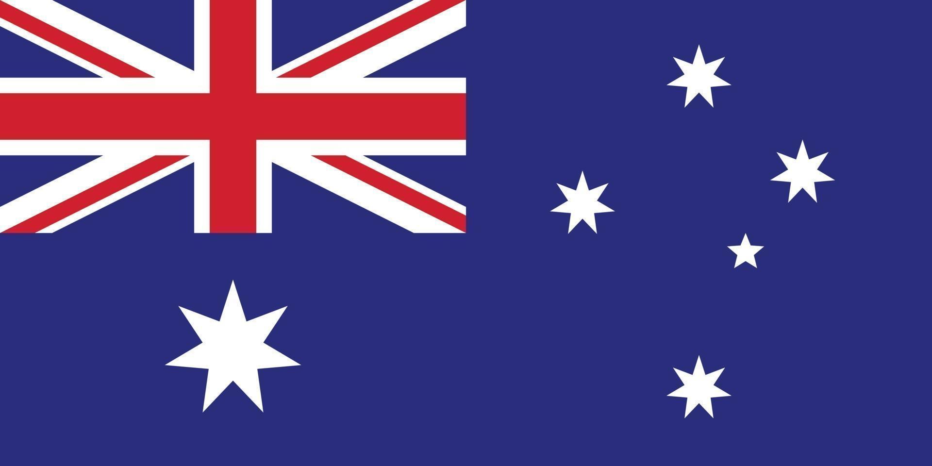 Australien Vektor Flagge