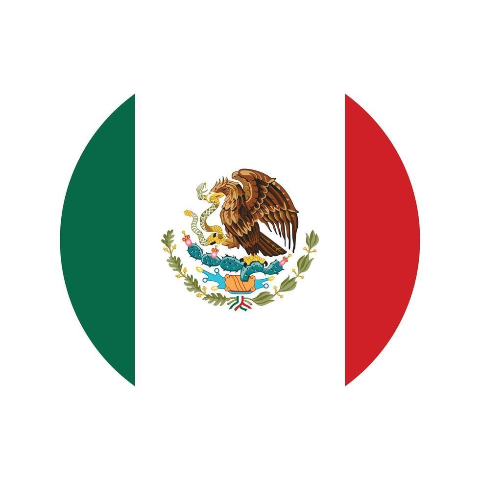 Mexiko Flaggenikone Vektor isolieren Druckillustration